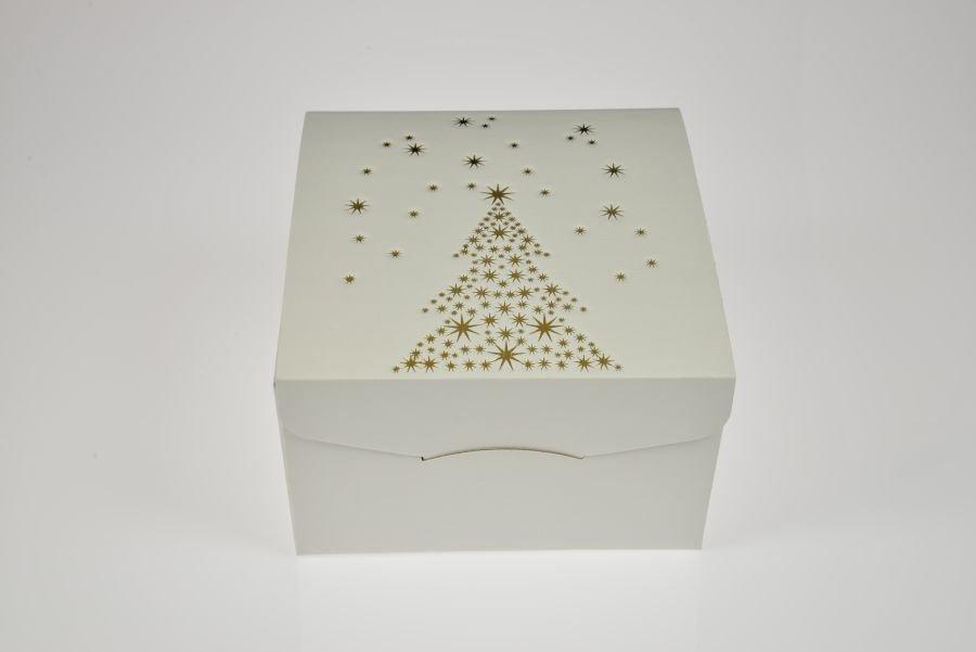 geschenkkarton weihnachten wei pr gedruck goldfarben. Black Bedroom Furniture Sets. Home Design Ideas