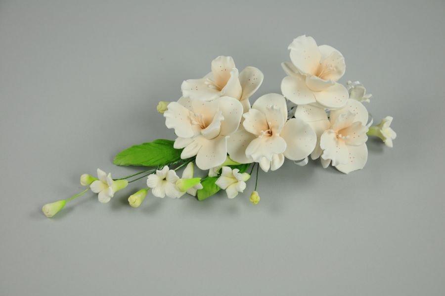 Zucker orchideen lachsfarben mit rosa p nktchen 18 cm - Dekoration mit orchideen ...