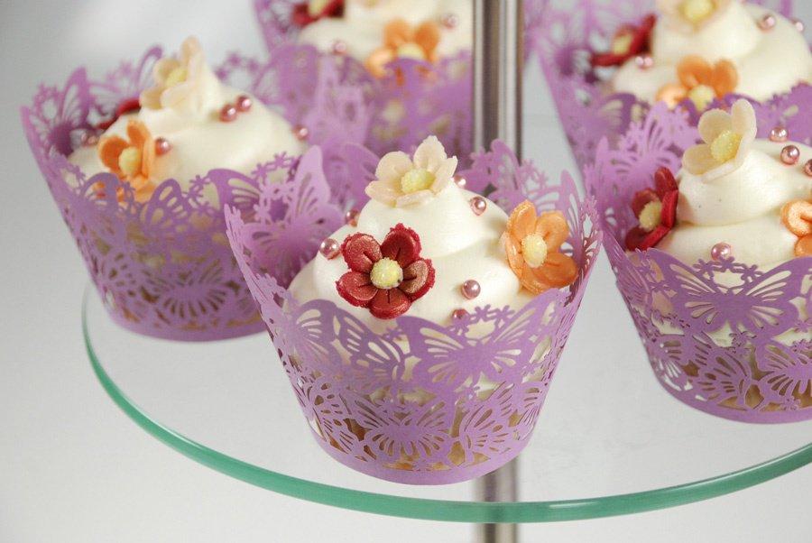 ... Kuchen & Backformen Muffin-Manschette -Schmetterling- lila, 6 Stück