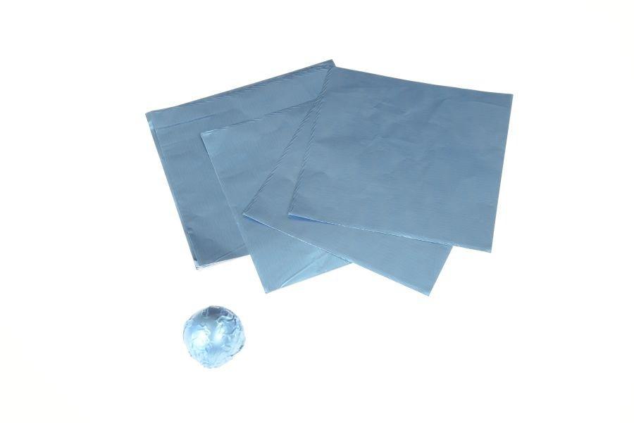 Silberpapier rauchblau, 10 x 10 cm, 150 Stück