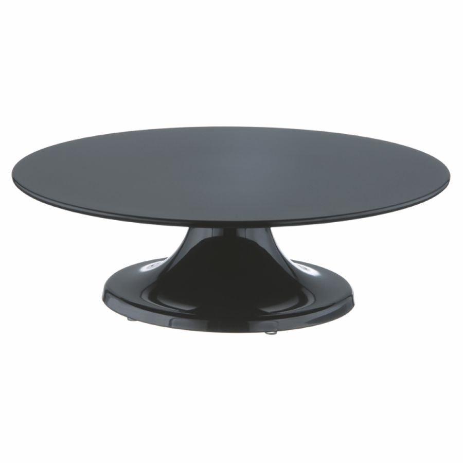 tortenplatte 32 cm schwarz drehbar mit fu melamin. Black Bedroom Furniture Sets. Home Design Ideas