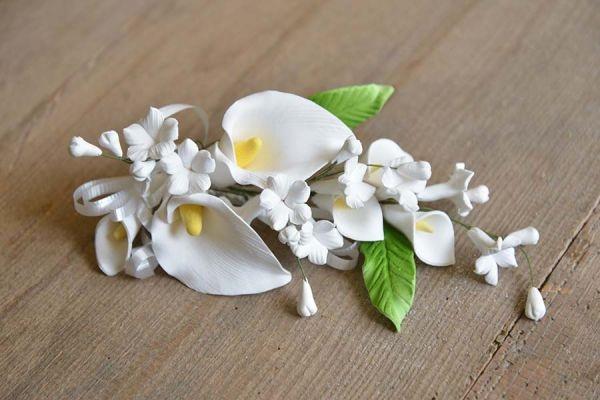 Zucker-Callas weiß, 15 cm