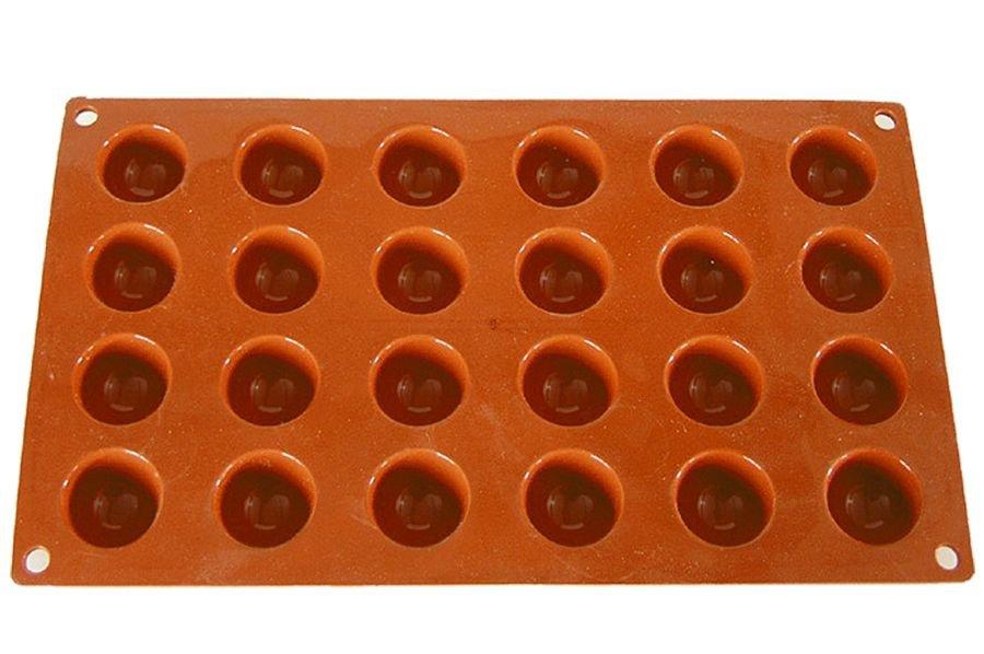 halbkugel backform f r 24 mini halbkugeln 3 cm silikon. Black Bedroom Furniture Sets. Home Design Ideas