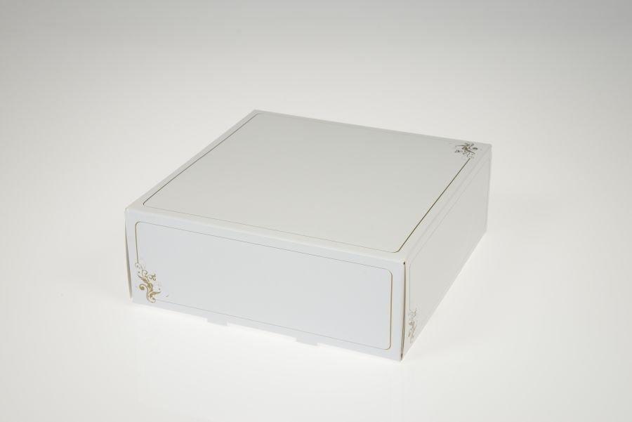 Tortenschachtel ca. 32 x 32 x 11,5 cm, 2 Stück