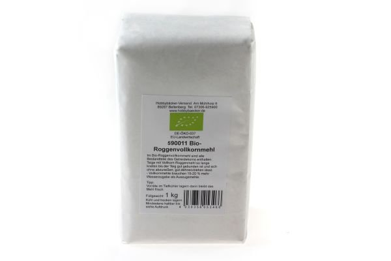 Bio-Roggenvollkornmehl 1 kg bei Hobbybaecker.de