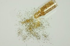 Gold-Flitter, fein 24 Karat, im Fläschchen