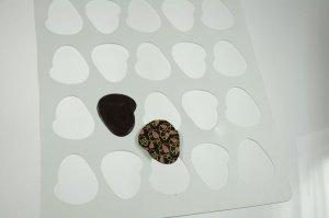 Schokoladegießschablone Oval 39 x 29 x 0,2 cm aus Silikon