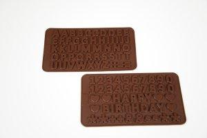 Gießformen Buchstaben und Zahlen für Schokolade
