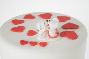 Mäusepärchen aus Zucker 3 Stück,  4,5 cm hoch