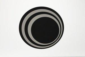 Cake Board / Tortenplatte, Ø 24 cm, silber/schwarz, 3 mm