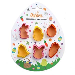 Ausstecher Ostern, Mini, Kunststoff, 6-teilig Set