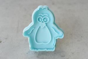 Ausstecher Pinguin mit Prägestempel, Kunststoff, 6 cm