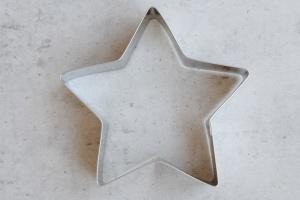 Ausstecher Stern, 5 Zacken, Edelstahl, 11 cm