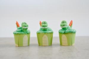 Cupcake Kit Dino, Muffinform + Zuckerdeko für 6 Cupcakes