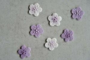 Blumen-Aufleger lila-flieder, 12 Stück