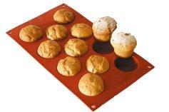 Muffin-Backform für 11 kleine Muffins Ø 5 cm, aus Silikon