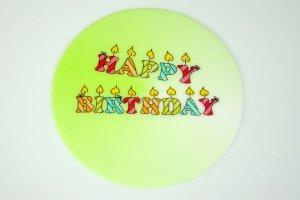 Happy Birthday Zucker-Aufleger, rund Ø 10 cm