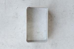 Ausstecher Lebkuchen, Edelstahl, 7 cm