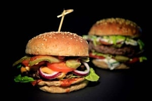 Silikonbackformen für 12 Burger Brötchen, Ø 8cm, Höhe 1,8 cm