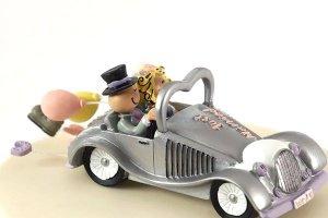 Hochzeitsauto -Just Married- Kunststoff-Keramik