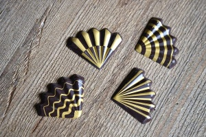 Schoko-Fächer aus dunkler Schokolade 3x3cm, 24 Stück