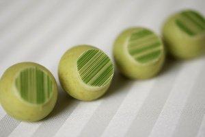 Motivfolie -Streifen grün - 25 x 32 cm