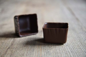 Dessertschalen Schokolade Carée Zartbitter, 22 Stück