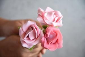 Ausgewählte Zutaten für Rosen-Cake-Pops