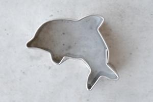 Ausstecher Delfin, Edelstahl, 4 cm
