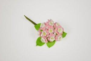 Zucker-Blumensträußchen rosa 10 cm