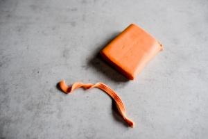 Fondant -orange- 250 g, Dekormasse
