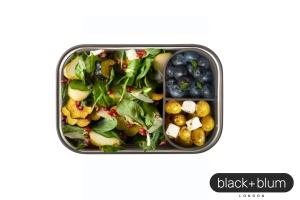 Sandwichbox, olive, Edelstahl/Holz, 1250 ml, 19x13,5x7,5cm