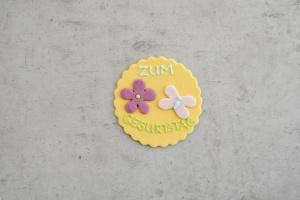 Zuckeraufleger Geburtstag, rund gewellt Ø 7 cm
