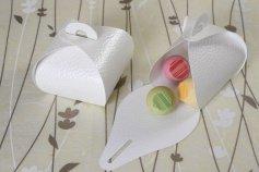 Pralinen- und Präsent-Box, weiß, für 3-4 Pralinen, 10 Stück