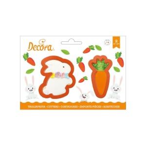 Ausstecher Kaninchen und Karotte, Kunststoff, 2-teiliges