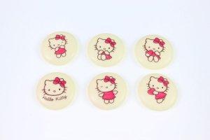 Hello Kitty Zuckertupfen Ø28 mm, 12 Stück