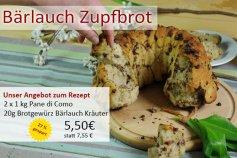 2x1kg Pane di Como + 20g Brotgewürz Bärlauch-Kräuter