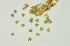 Gold-Blüten 24 Karat 3 mm,  im Fläschchen   -   Angebot