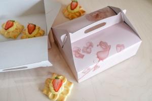 Tragebox groß für 6 - 8 Tortenstücke / 26x22x9 cm / 5 Stück