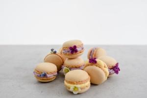 Macarons natur, Ø 3,5 cm, 48 Macaron-Hälften