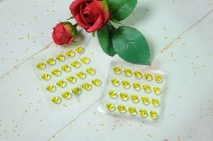 Diamanten -gelb- aus Gelatine, 20 Stck.