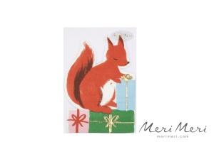 Meri Meri Papierservietten Eichhörnchen, gestanzt, 16 Stk.