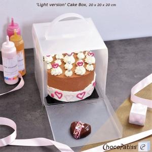 Tortenbox, faltbar, matt, 20x20x20 cm