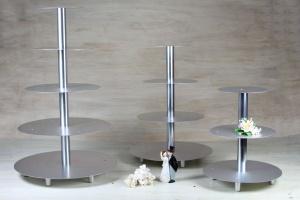 Hochzeitstortenständer - ALU - 5 Etagen / Sonderartikel