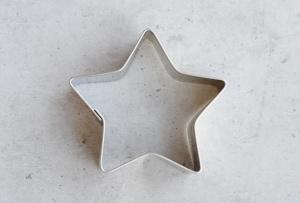 Ausstecher Stern, 5 Zacken, Edelstahl, 5 cm