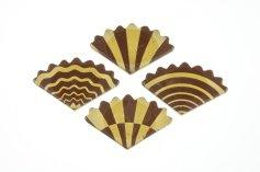 Schoko-Fächer -Elegance- Zartbitter, 5 x 3 cm, 40 Stück