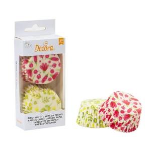 Muffinförmchen Aquarellblumen, Papier, 36 Stk., Ø 5 cm