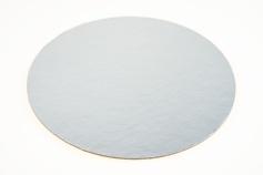 Cake Board / Tortenplatte, Ø ca. 15 cm, silber/gold, 3 mm