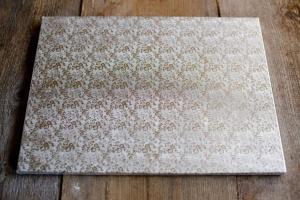 Cake Board / Tortenplatte, 35x45x1,2 cm, silberfarben
