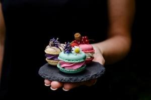 Macarons pink, Ø 3,5 cm, 48 Macaron-Hälften